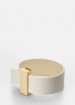 Кожаный браслет Skultuna Clasp Rivets со стальными деталями, фото