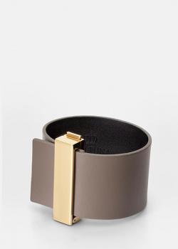 Серый браслет Skultuna Clasp Rivets с позолоченной вставкой, фото
