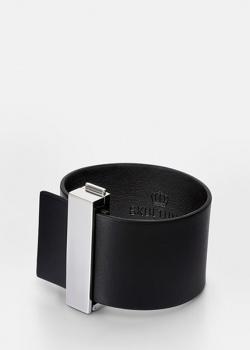 Черный браслет Skultuna Clasp Rivets из кожи, фото