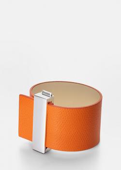 Широкий браслет Skultuna Clasp Rivets оранжевого цвета, фото