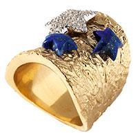 Широкое кольцо Misis Nefertiti с морскими звездами, фото