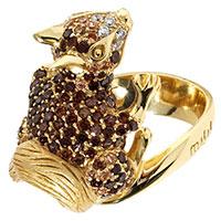 Женское кольцо Misis Galadriel в виде белки с фианитами, фото
