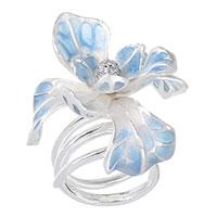 Кольцо Misis Gemina с голубым ирисом, фото