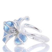 Двойное кольцо Misis Gemina с цветком, фото
