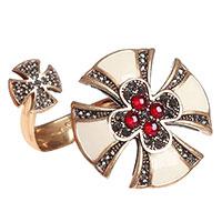 Кольцо-кафф Misis Artificialia Мальтийский крест, фото