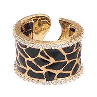 Широкое кольцо Misis Artemide с эмалевой росписью, фото