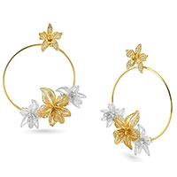 Серьги-гвоздики Misis Marisol в виде колец с цветками, фото