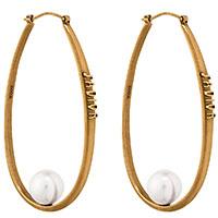 Серьги-кольца Christian Dior J'Adior с смоляными бусинами, фото