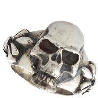 Серебряное мужское кольцо ElfCraft с черепом, фото