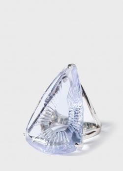 Серебряное кольцо Lalique Ice Light с крупным камнем, фото