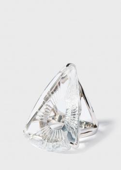 Кольцо из серебра Lalique Ice Light с прозрачным хрусталем, фото