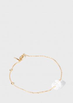 Тонкий браслет Lalique Muguet с хрустальным ландышем, фото