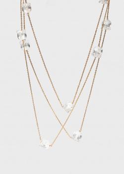 Трехслойное ожерелье Lalique Muguet с ландышами, фото