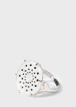 Кольцо из серебра Lalique Cactus с прозрачным хрусталем, фото