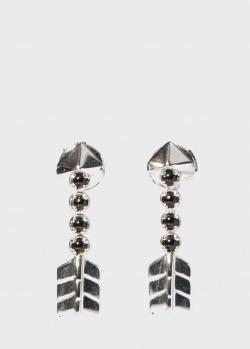 Серьги-гвоздики Lalique Fleche d 'Eros в форме стрелы, фото