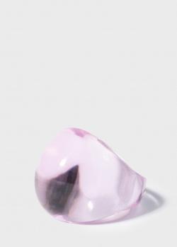 Хрустальное кольцо Lalique Cabochon с розовой патиной, фото
