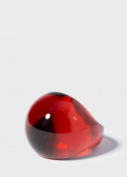 Хрустальное кольцо Lalique Cabochon красного цвета, фото