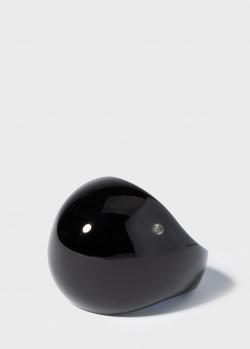 Коктейльное кольцо Lalique Cabochon из черного хрусталя, фото
