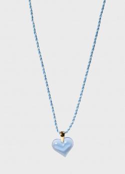 Колье Lalique Amoureuse Beaucoup с синим сердцем, фото