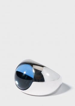 Широкое кольцо Lalique Cabochon из серебра с хрусталем, фото