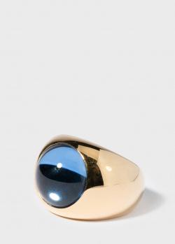 Кольцо с хрусталем Lalique Cabochon с позолотой, фото