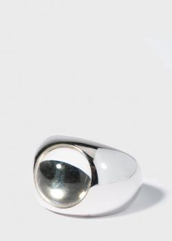 Серебряный перстень Lalique Cabochon с вставкой-хрусталем, фото