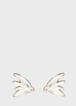 Хрустальные серьги Lalique Hirondelles в виде ласточек, фото