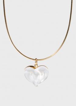 Кулон Lalique Coeurs Entrelacs Переплетенные сердца, фото