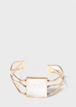 Позолоченный браслет-кафф Lalique Arethuse Masque de Femme, фото