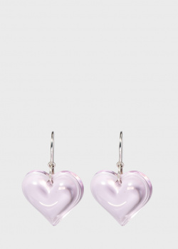 Серьги из серебра Lalique Coeur Heart с подвесками-сердцами, фото