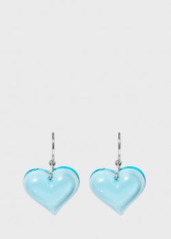 Серьги-подвески Lalique Coeur Heart в виде сердец, фото
