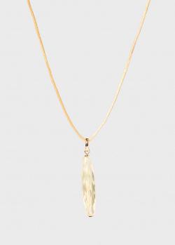 Шелковая нить с кулоном Lalique Briolette, фото