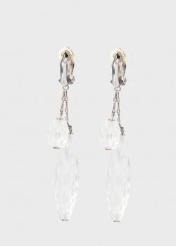 Фактурные серьги Lalique Briolette с прозрачным хрусталем, фото