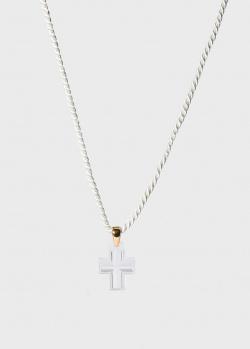 Крестик из хрусталя Lalique Amoureuse Passion на шелковой нити, фото