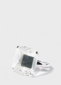 Крупное кольцо Lalique Art Deco с алмазной гранью, фото