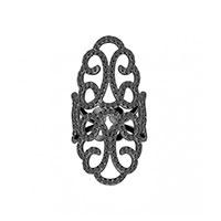 Широкое кольцо APM Monaco Ensorcelee черного цвета , фото