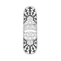 Широкое кольцо APM Monaco Bizance из серебра с фианитами , фото