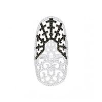 Широкое кольцо APM Monaco Bizance с фианитами , фото