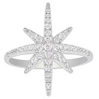 Кольцо с цирконами APM Monaco из серебра, фото
