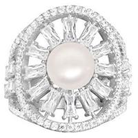 Кольцо APM Monaco Glamour с жемчугом, фото