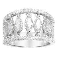 Кольцо APM Monaco Glamour с камнями циркония, фото