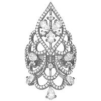 Кольцо APM Monaco Glamour в форме груши, фото