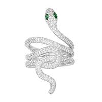 Кольцо APM Monaco Wonderland в виде змеи из циркония, фото