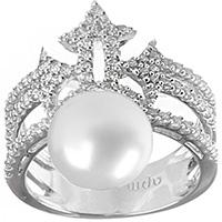 Кольцо APM Monaco Precieuse с белой жемчужиной, фото