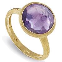 Тонкое помолвочное кольцо Marco Bicego Jaipur с фиолетовым аметистом, фото