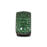 Моносерьга APM Monaco с камнями циркония зеленого цвета, фото