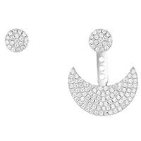 Серебрянные серьги APM Monaco в форме полумесяца, фото