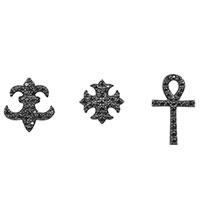 Серебрянные серьги APM Monaco черного цвета, фото