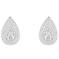 Серьги-гвоздики APM Monaco Glamour серебристого цвета, фото