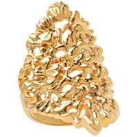 Кольцо Armadoro Jewelry скульптурное с золотым покрытием, фото